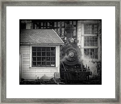 Skunk Trains Cabin Framed Print