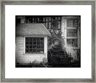 Skunk Trains Cabin Framed Print by William Havle