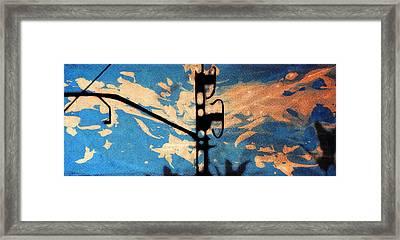 Sky - Travel Serigraphic Art Framed Print by Arte Venezia