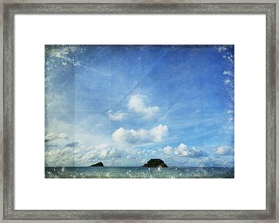 Sky And Cloud On Old Paper Framed Print by Setsiri Silapasuwanchai