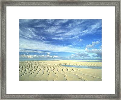 Sky And Land Meeting At Infinity  Framed Print by ilendra Vyas
