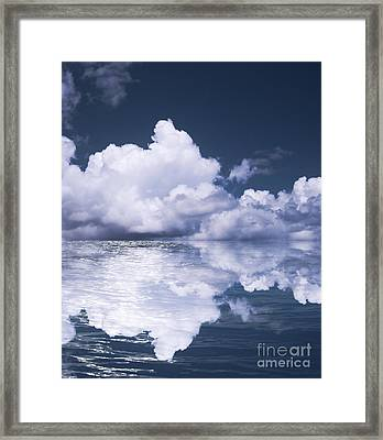 Sky And Ocean Framed Print