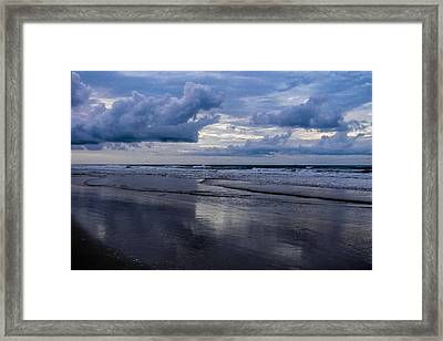 Sky And Shore Framed Print by Christy Usilton