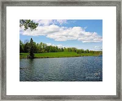 Framed Print featuring the photograph Sky And Water Almost Meet by Sherman Perry
