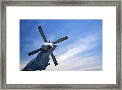 Sky Blades Framed Print