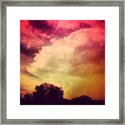 #sky #cary #colourful #clouds ☁ Framed Print