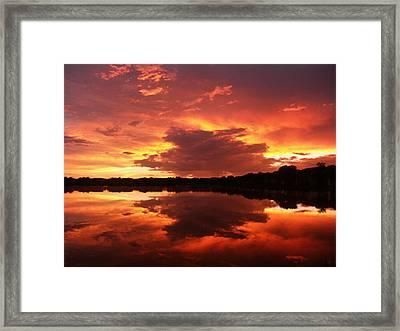 Sky Chaos Framed Print