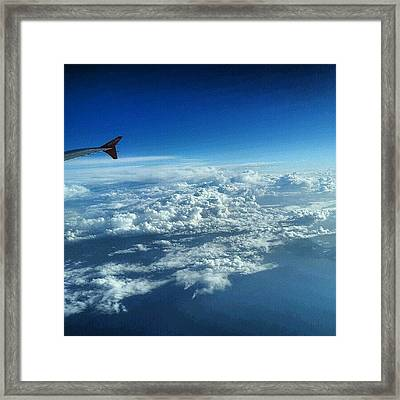#sky #cloudy On The Way To #jordan Framed Print