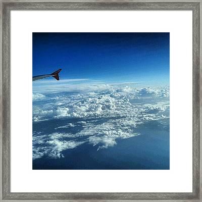 #sky #cloudy On The Way To #jordan Framed Print by Abdelrahman Alawwad