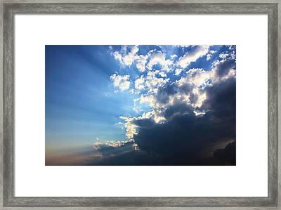 Sky Drama Framed Print by Kristin Elmquist