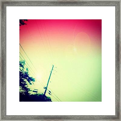 #sky #edit #cary #prettycolors #pink Framed Print