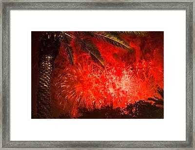 Sky Fire Framed Print by Debra and Dave Vanderlaan