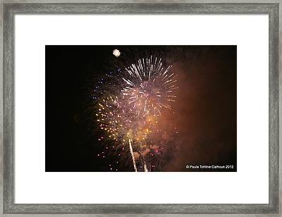 Sky-fire Framed Print by Paula Tohline Calhoun