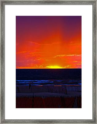 Framed Print featuring the photograph Sky Fire by Randall  Cogle