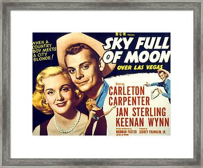 Sky Full Of Moon, Jan Sterling Framed Print by Everett