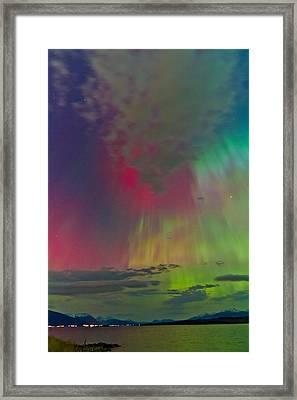 Sky Full Of North Light Framed Print by Frank Olsen