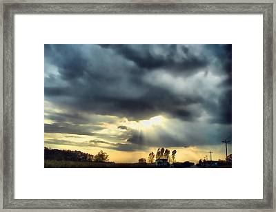 Sky In Turmoil Framed Print by Tom Schmidt