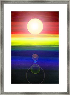 Sky Meets Water Framed Print by Sandi OReilly