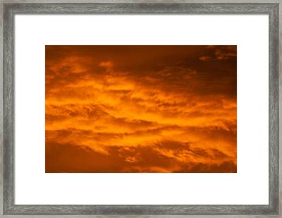 Sky Of Fire Framed Print