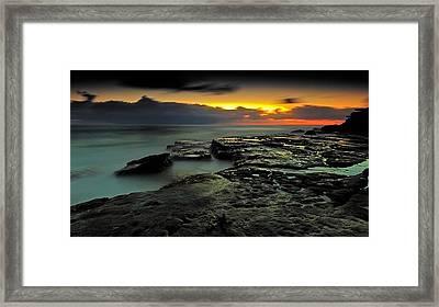 Sky Of Fire Framed Print by Mark Lucey