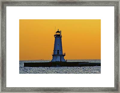 Sky Of Gold Framed Print by Burland McCormick