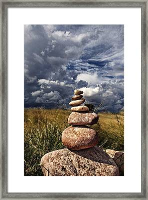 Sky Of Stone Framed Print by Gabriel Calahorra