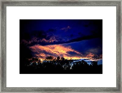 Sky On Fire Framed Print by Frank DiGiovanni