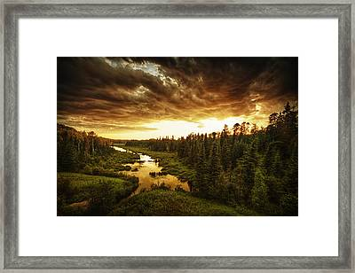Sky Valley Framed Print
