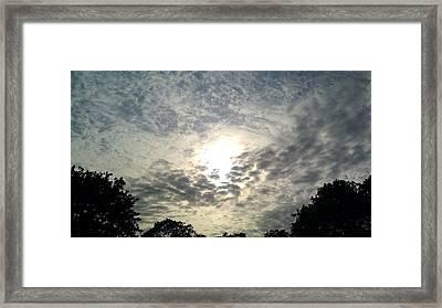 Sky Whirlpool Framed Print by ClockWork Rockawn