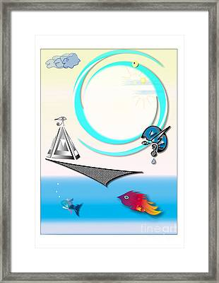Sky Worshippers Framed Print by Pm Ernst