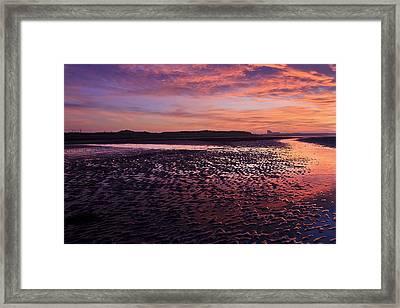 Skyfire Beach Sunrise Framed Print by Fiona Messenger