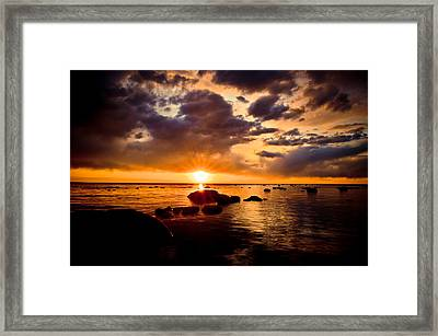 Skyfire Framed Print by Jason Naudi Photography