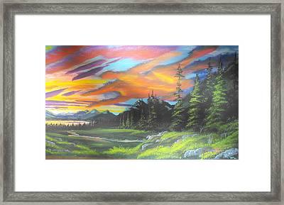 Skyfire Framed Print by W Wayne Mosbarger