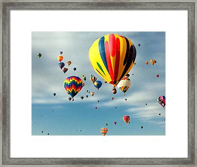 Skyful Of Balloons Framed Print