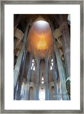 Skylight At Gaudi Cathedral Framed Print