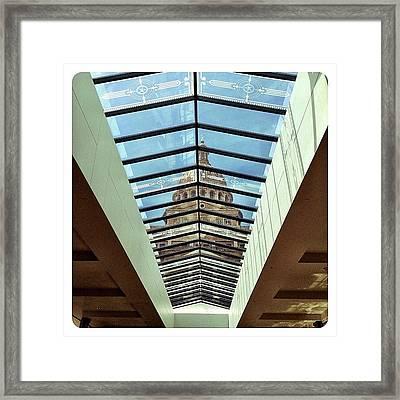 Skylight View Framed Print