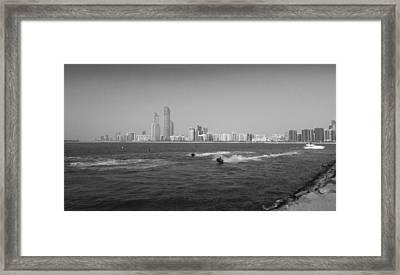 Skyline Abudhabi Framed Print by Farah Faizal