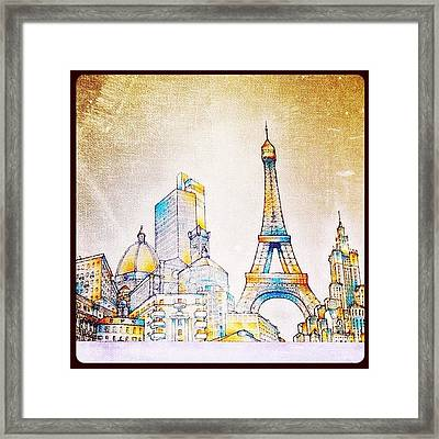 skyline Of The World By Matteo Framed Print