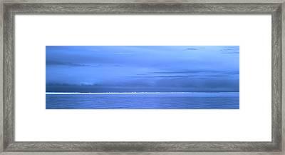 Framed Print featuring the photograph Skyline Salton Sea by Hugh Smith