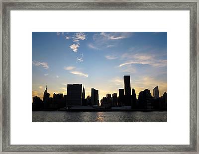 Skyline Sunset Silhouette Framed Print by Heidi Hermes