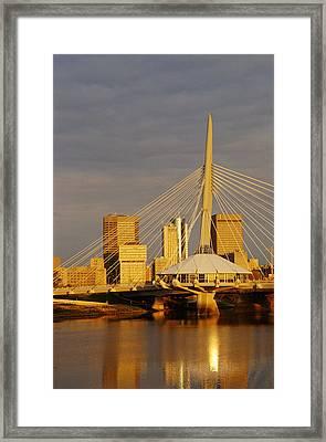 Skyline With Esplande Riel, Winnipeg Framed Print