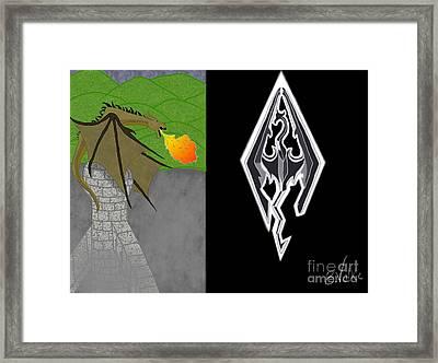 Skyrim 2 Framed Print by Rebecca Volke