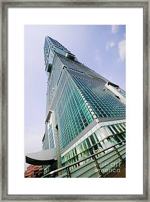 Skyscraper, Taipei 101 Building Framed Print by Jeremy Woodhouse