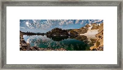 Skytop Panoramic Framed Print by Leland D Howard