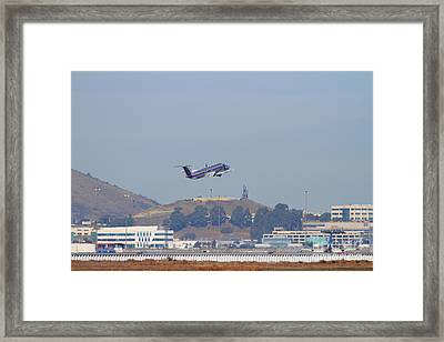 Skywest Airlines Jet Airplane At San Francisco International Airport Sfo . 7d11824 Framed Print