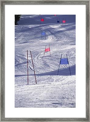 Slalom Ski Race Course Framed Print by Bob Winsett
