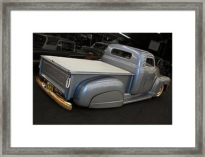 Framed Print featuring the photograph Slammed Pickup by Bill Dutting