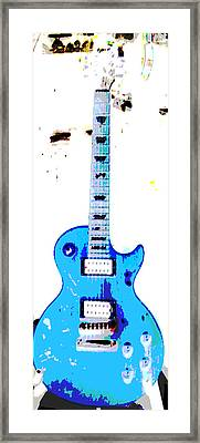 Slash's Guitar Framed Print by David Alvarez