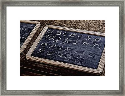 Slate Work Framed Print