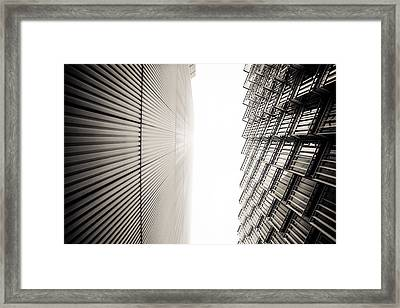 Slatted Window Architecture Framed Print by Lenny Carter